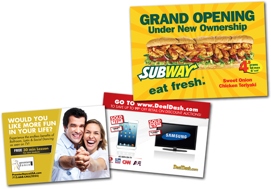 ummhumm | creative studio - EDDM2go - direct mail design sample - Subway