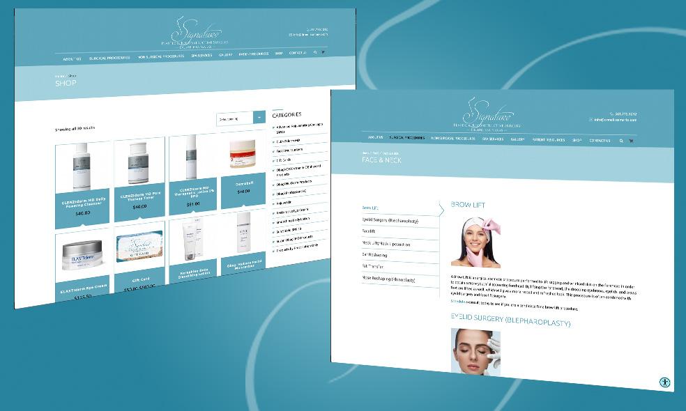 ummhumm | creative studio creates website for Signature Plastic & Reconstructive Surgery